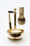 Men's Brass Shaving Stand