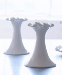 Flirt White Ceramic Candle Holders